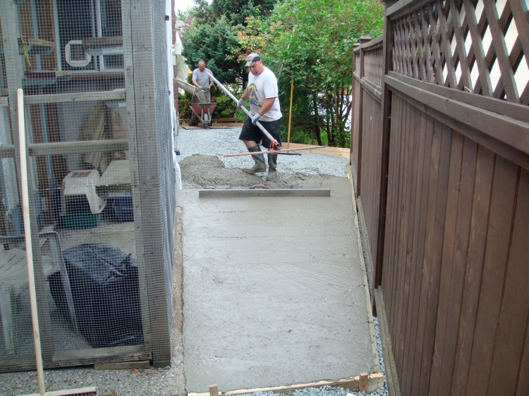 concrete being poured