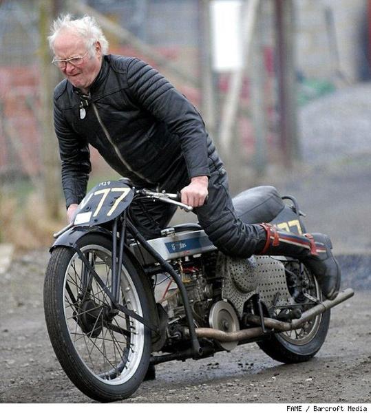 Old like me guy riding a bike