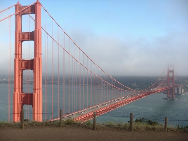 The Golden Gate bridge, from Battery Spencer